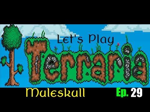 Let's Play Terraria 1.2 Ep. 29 - Pirate Invasion Fail