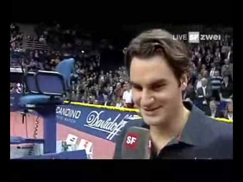 Roger Federer Lachanfall, Swiss Indoors 2007