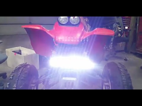 Honda 400 Ex >> Honda 400Ex LED Light Bar Install And Test (72W 6000lm ...