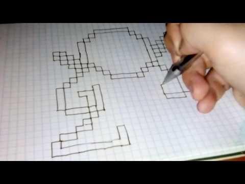 как нарисовать дэдпула по клеточкам