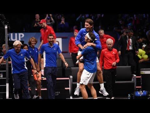 Roger federer/ Rafa Nadal VS Jack sock/ Sam Querrey Road Laver cup 2017 FULL MATCH  1080p