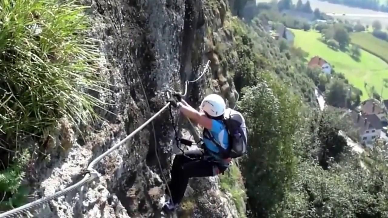 Klettersteig Unfall : Klettersteig wie schwierig ist c absturz youtube