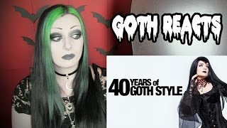 Goth Reacts To 40 Years of Goth Style | Toxic Tears