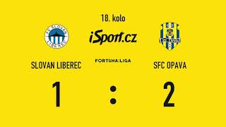 FC Slovan Liberec vs Slezský FC Opava 1:2 ● 10.12.2018. FORTUNA LIGA
