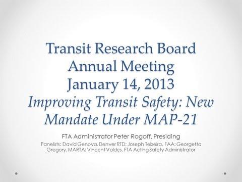 Improving Transit Safety: New Mandate Under MAP-21