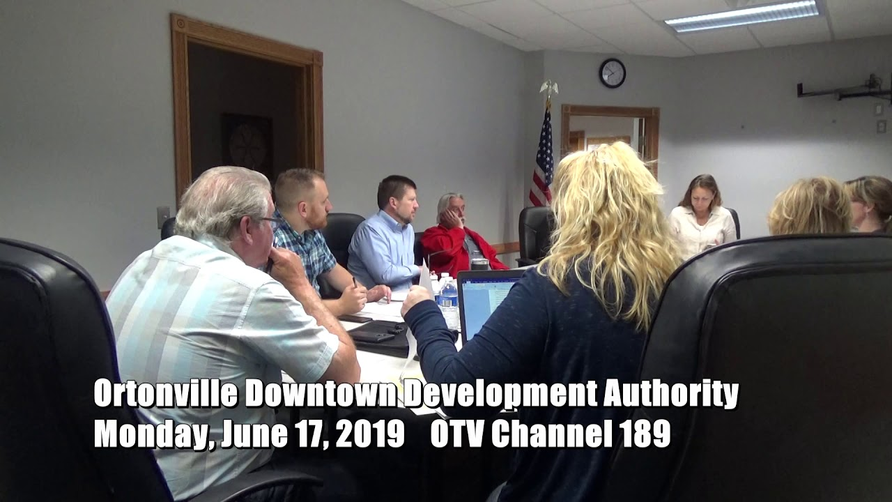 6 17 2010 Ortonville Downtown Development Authority - YouTube