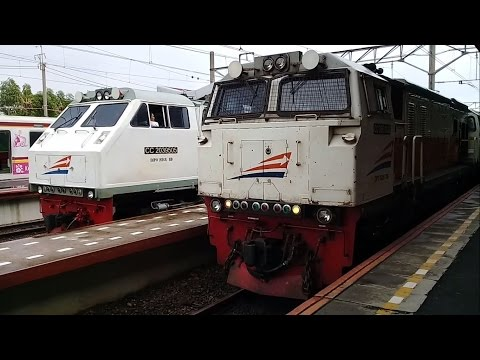 Kereta Api Argo Lawu + Kawis Jawa berangkat stasiun Jatinegara
