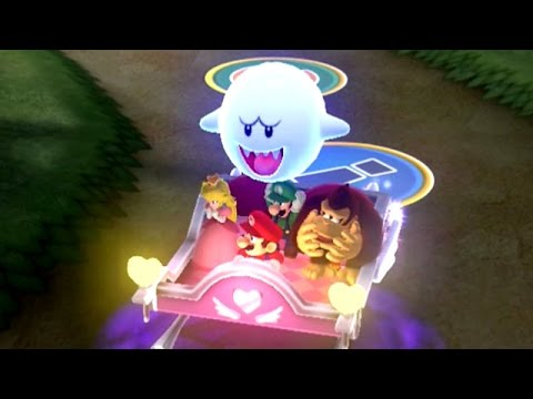 Mario Party 10 - Haunted Trail (2 Player Mario Party) - Lovely Sleigh