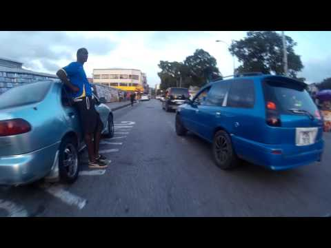 Ride along Independence Sq. to Henry Street in Port of Spain, Trinidad