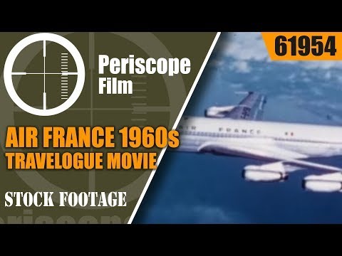 AIR FRANCE 1960s TRAVELOGUE MOVIE  FLYING HOLIDAY TO INDIA  NEW DELHI   BENGAL  JAIPUR  61954