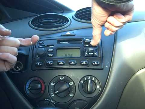 how to remove ford focus car stereo radio removal repair. Black Bedroom Furniture Sets. Home Design Ideas