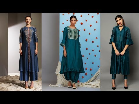 Latest Silk Kurti Designs