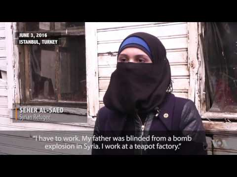 Syrian Refugee Girl Faces Harsh Life in Turkey