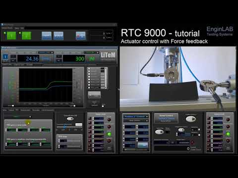Test controller RTC 9000 Force control tutorial