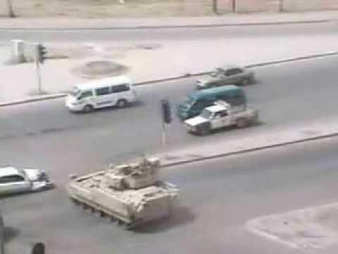 tank runs over car on highway youtube. Black Bedroom Furniture Sets. Home Design Ideas