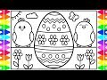 How to Draw an EASTER EGG Step by Step for Kids 🐰🌈🌷Fun Colorful Easter Egg Drawing Coloring Pages