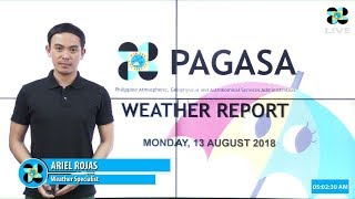 Public Weather Forecast Issued at 4:00 AM August 13, 2018