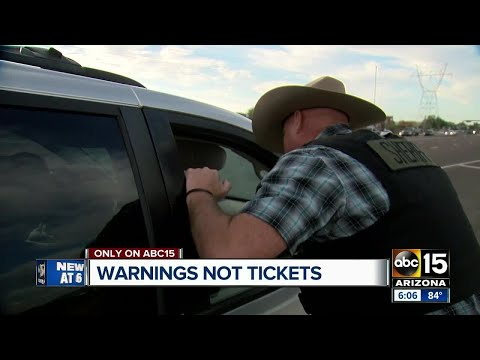 Pinal County Sheriff hands out warnings instead of citations