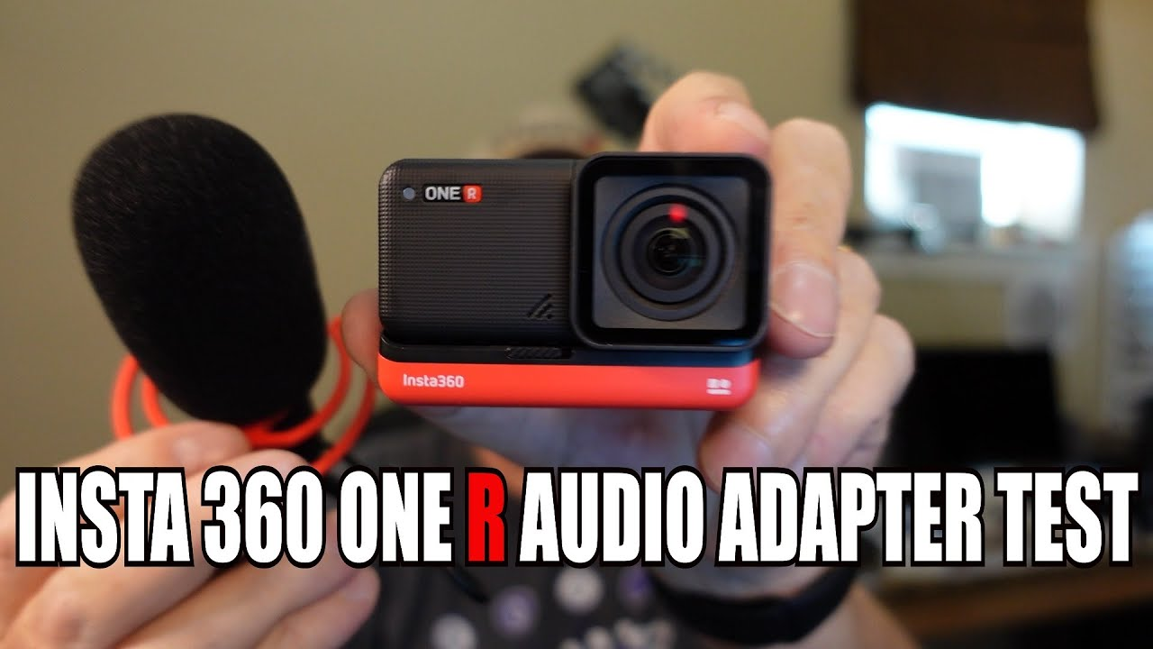Insta 360 One R audio adapter test with external microphones