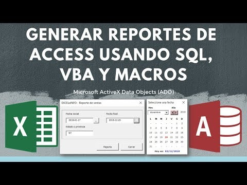Generar Reportes de Base de Access desde Excel usando SQL