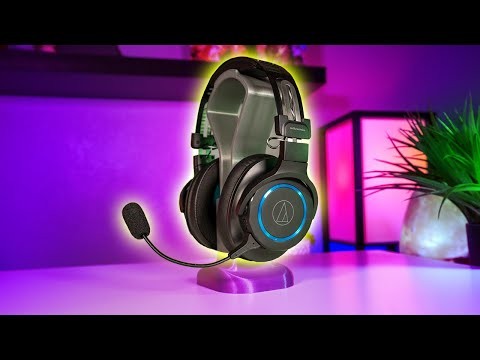 Audio-Technica ATH-G1WL Premium Wireless Gaming Headset Review And Mic Test
