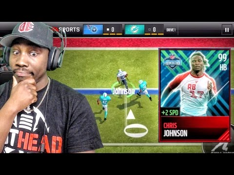 99 COMBINE CHRIS JOHNSON IS TOO FAST! Madden Mobile 17 Gameplay Ep. 28