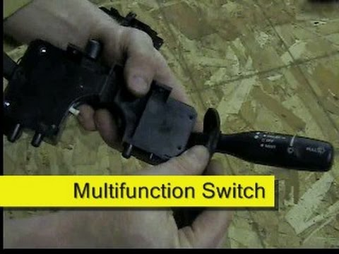 Jeep Wrangler Tj Wiring Diagram Brain Pons Multifunction Turn Signal Switch Replacement 2002 - Youtube