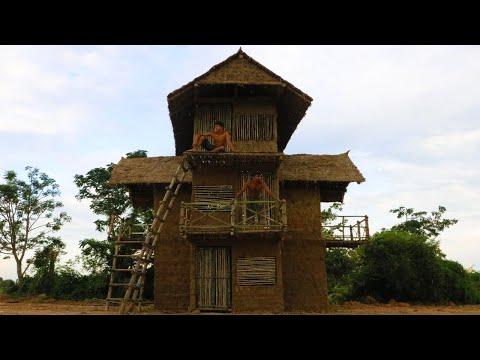 Build Beautiful Three Story Mud House (part 2)