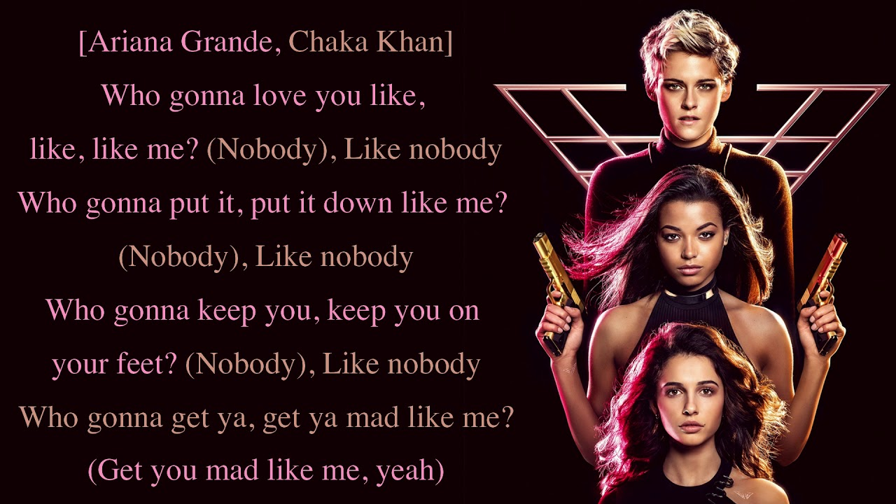 Ariana Grande Chaka Khan Nobody Charlie S Angels Soundtrack Full Hd Lyrics Youtube 34+35 is a song interpreted by ariana grande, released on the album positions in 2020. ariana grande chaka khan nobody charlie s angels soundtrack full hd lyrics