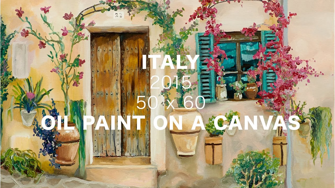 004 Italy Urban Landscape Oil On Canvas Painting