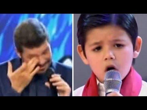 Enoc, el nene de 8 años que le sacó lágrimas de risa a Tinelli - Bailando 2016 Showmatch 2016 #1