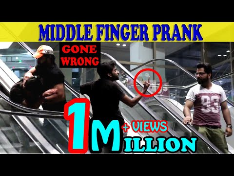 Showing Middle Finger To Strangers On Escalator Prank | Amanah Mall | Zero Brand | Guru Raaj |