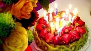 Happy Birthday!! Wowww Chocolate Strawberry Marble Cake Yummy!!