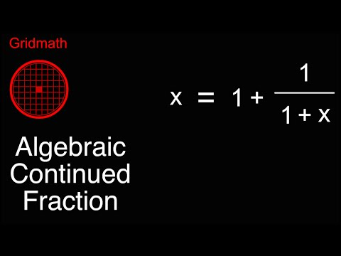 Algebraic Continued Fraction
