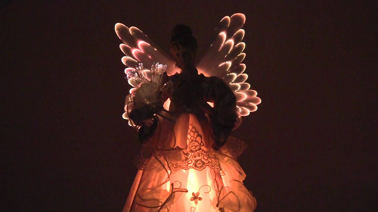 16 lighted victorian angel tree topper youtube