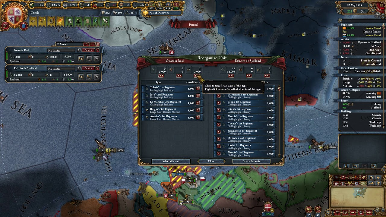 Let's Play Europa Universalis IV - Reddit Challenge: What is Dead may never  Die - Episode 6
