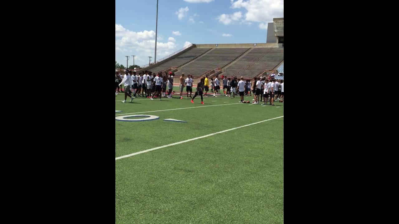 Majik Rector Texas Tech Football Camp 7 24 2016 Youtube