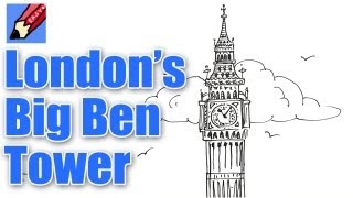 How to draw London's Big Ben Tower Real Easy(Every view of London has the Big Ben tower in it somewhere. It is the very symbol of London. Big Ben is actually the big bell that Bong on the hour!, 2013-05-30T14:50:07.000Z)