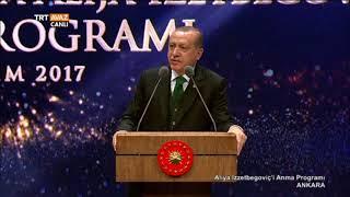 Erdoğan'ın Aliya İzzetbegoviç Anma Programı Konuşması - TRT Avaz
