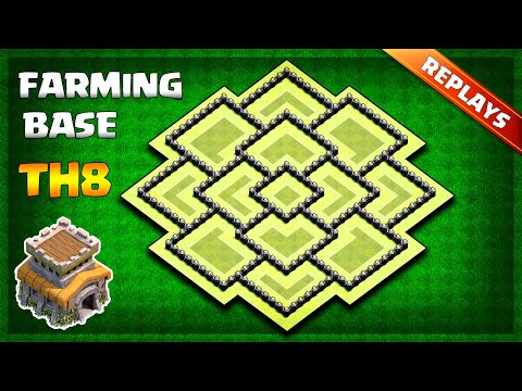 BEST Town Hall 8 (TH8) Farming/Trophy Base Layout 2019 - With Replays & Copy Link | Clash Of Clans