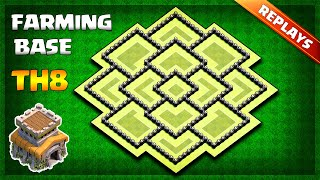 BEST Town Hall 8 TH8 Farming Trophy Base Layout 2019 With Replays Copy Link Clash of Clans