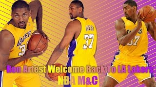 Ron Artest (MWP) Welcome Back To LA Lakers  - Waiting For Love