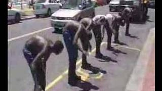 Gumboot Dancers in Cape Town
