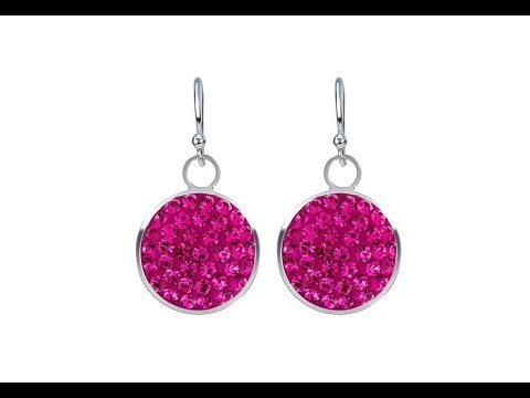 Šperky – Stříbrné náušnice 925 - růžové zirkony v kruhovém podkladu ... 1573bee10c3