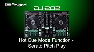 Roland DJ 202 - Hot Cue Mode Function - Serato Pitch Play