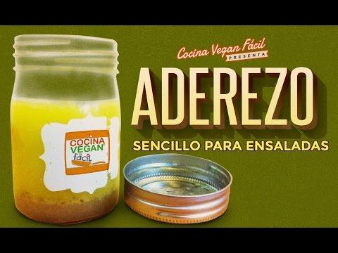 Aderezo sencillo para ensaladas  Cocina Vegan Fcil  YouTube