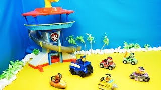 Paw Patrol, Unboxing, Fire Department, Police, Crane Car, Movie for Kids
