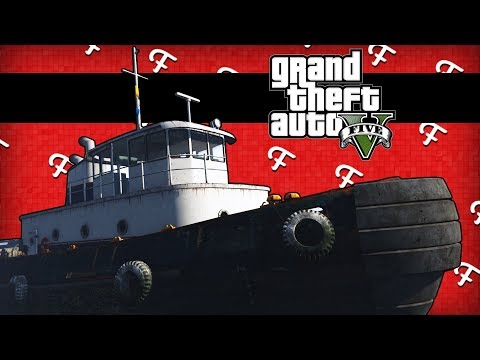 """GTA 5: Brand new Tug Boat """"Yacht"""", Underwater Game Troll, Rescue Missions! (Comedy Gaming)"""
