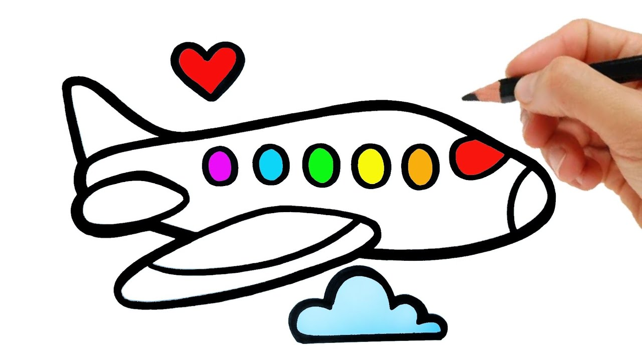 HOW TO DRAW A AIRPLANE EASY STEP BY STEP