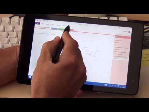 Dell Venue 8 Pro tablet stylus demonstration